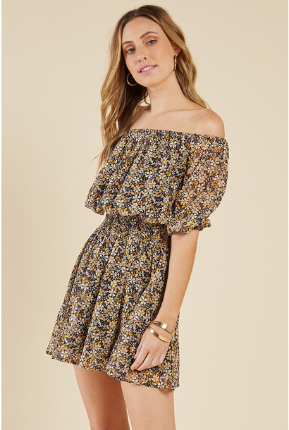 Daisy Low Off Shoulder Dress NVY