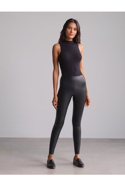 Faux Leather Legging With Perfect Control BLK