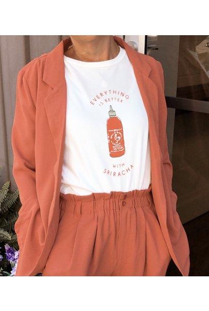 Sriracha Graphic Tee WHT