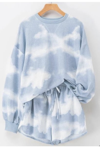 Cloudy Tie Dye Lounge Set BLU