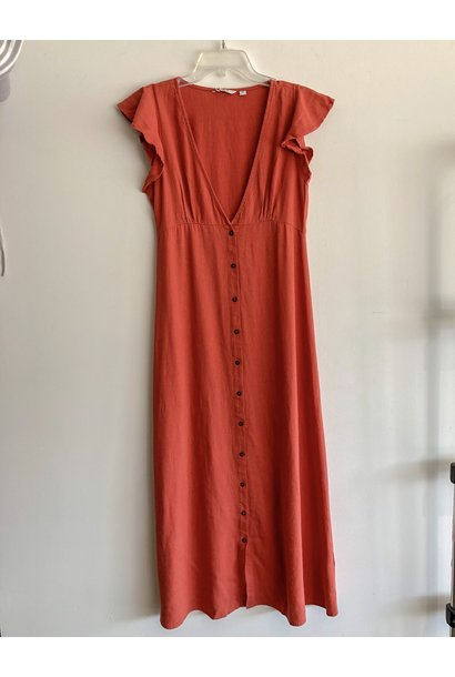 Becca Maxi Dress HOT SAUCE