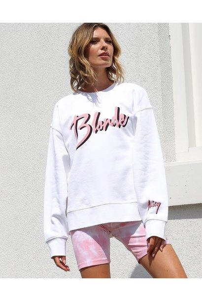 Blonde Juicy Step Sis Crew WHT