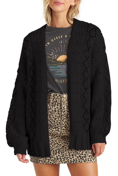 Blissed Out Knit Cardi BLK
