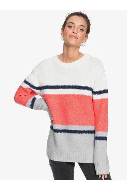 Perfect Duet Stripe Sweater WHT
