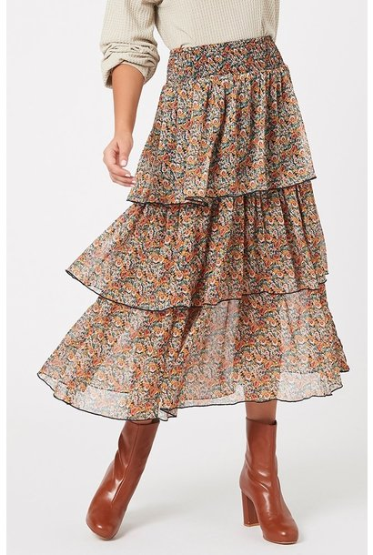 Fleetwood Floral Chiffon Skirt MUL