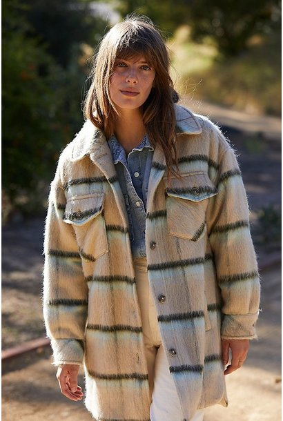 Vienna Wool Plaid Jacket ICE