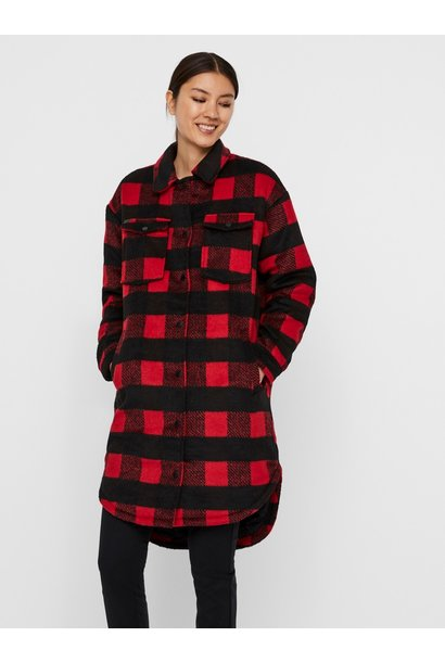Mali L/S Plaid Jacket RED/BLK