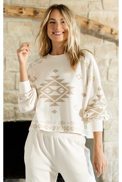 Lea Tribal Sweatshirt BONE