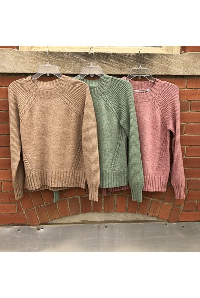 Sandy Soft Knit Crew Sweater