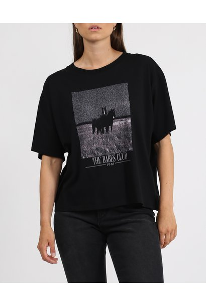 The Equestrian Boxy Tee BLK