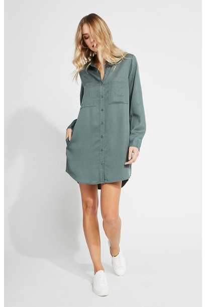 Aiden Shirt Dress PINE