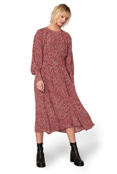 Wild In Style Midi Dress RUST