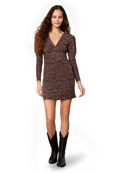 Animal Attitude Ruch Dress BRN
