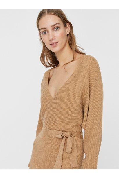 Rem V-neck Knit Dress BRN