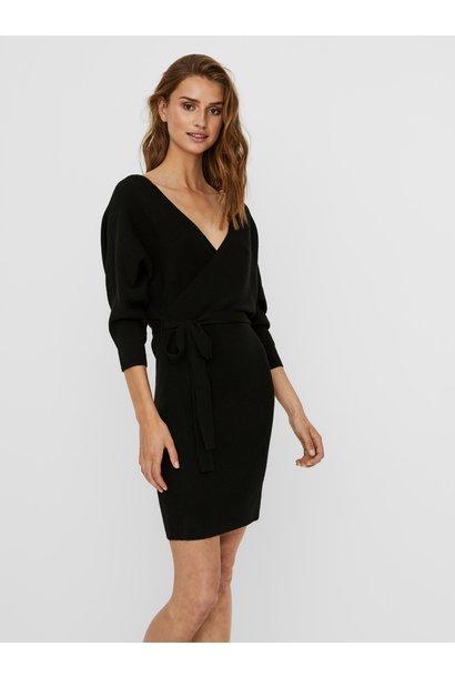 Rem V-neck Knit Dress BLK