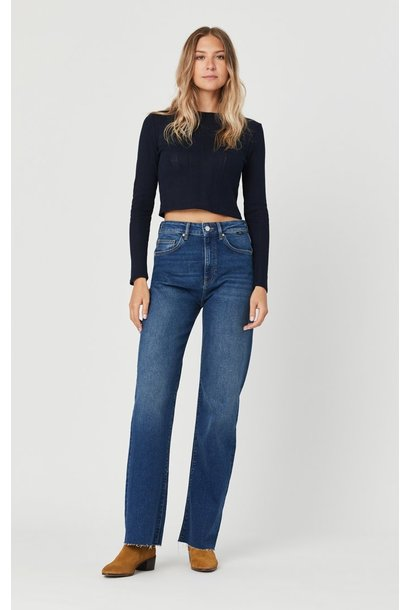 Victoria High Rise Wide Leg Jean Dark Used 90's