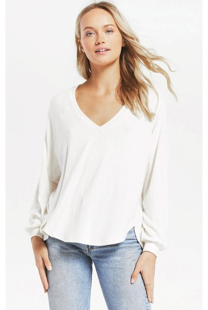 Plira Slub Sweater WHT