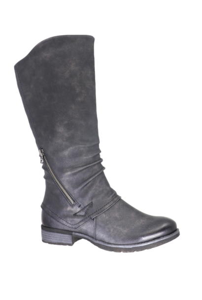Ally Tall Moto Boot BLK