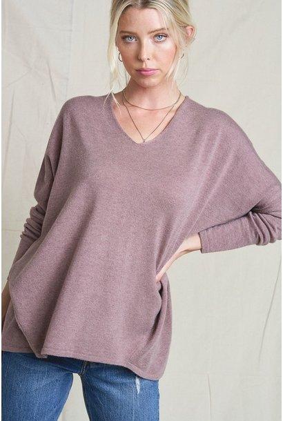 Vneck Boxy Sweater MAU