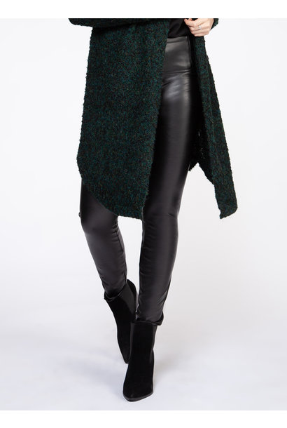 High Waisted Faux Leather Legging BLK