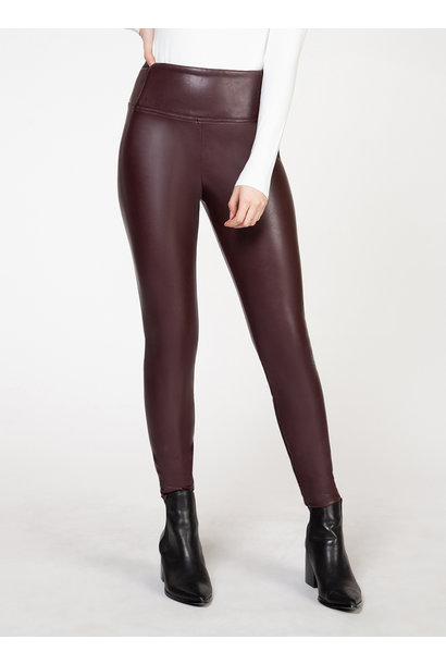 High Waisted Faux Leather Legging BORD