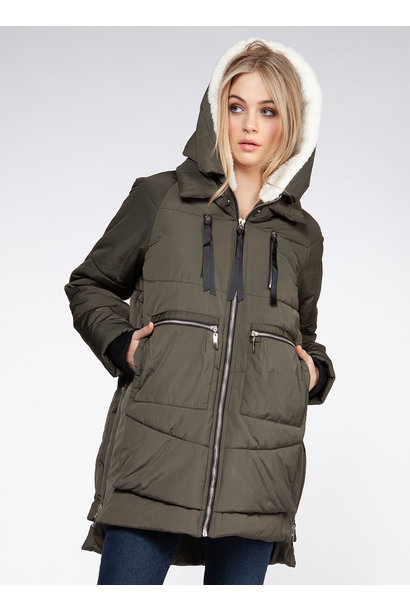 Hooded Puffer Parka GRN