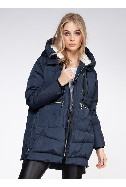 Hooded Puffer Parka BLU