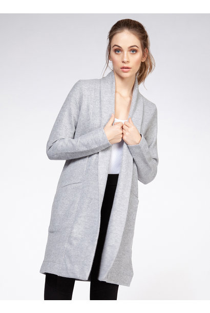 So Soft Knit Open Cardi GRY