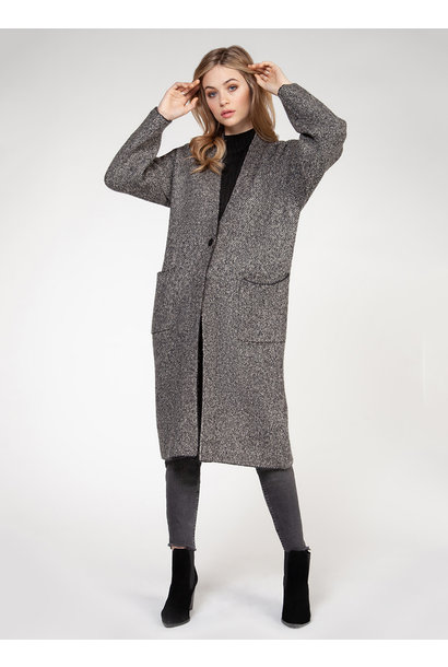 1 Button Duster Cardigan GRY