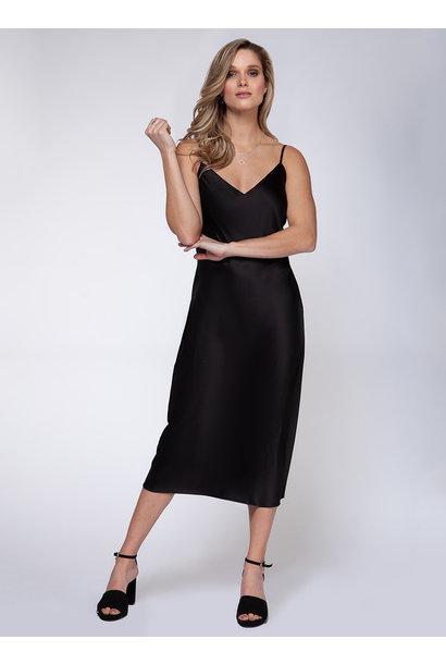 Midi Slip Dress BLK