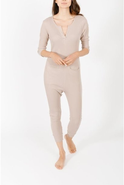 Coffee Time Romper FAWN