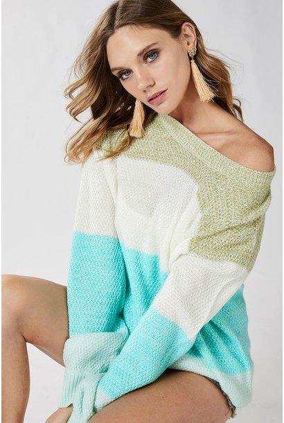 ColourBlock Stripe Sweater MINT