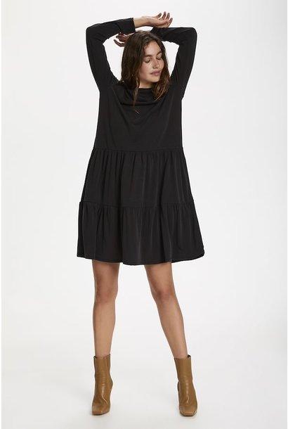 Colissa Tiered Tencel Dress BLK