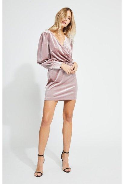Helen Velvet Dress MINK