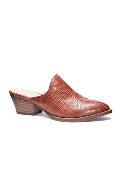 Catherin Lizard Mule TAN