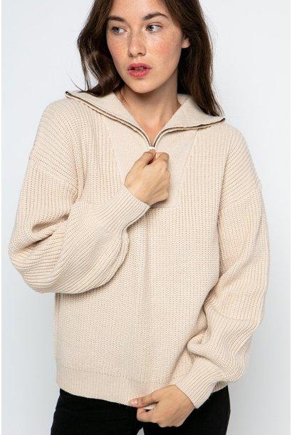 Denille 1/2 Zip Sweater CRM