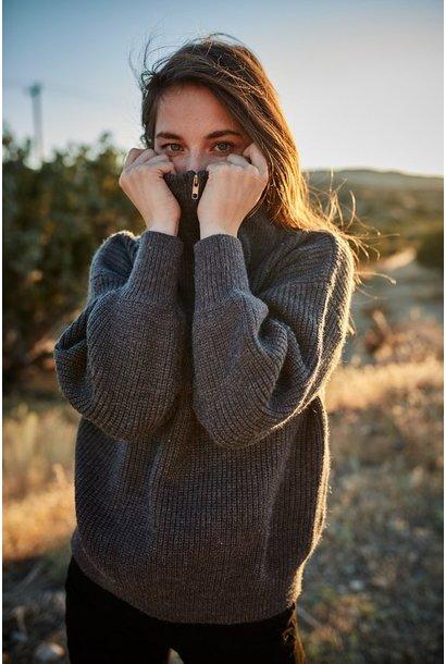 Denille 1/2 Zip Sweater GRY
