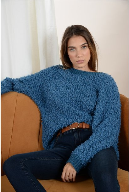 Fuzzy Sweater Blue