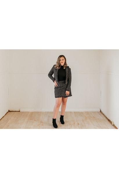 Elani Tweed Skirt BLK