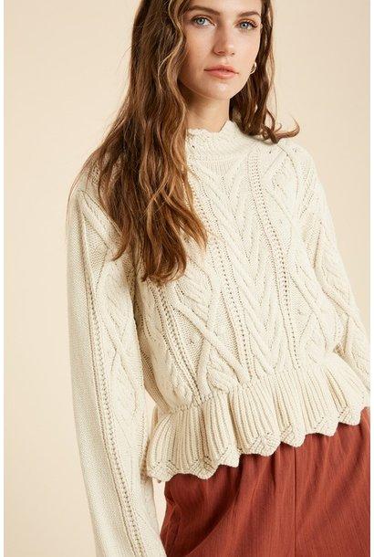 Ruffle Hem Sweater CRM