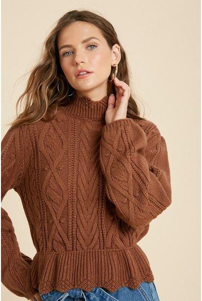 Ruffle Hem Sweater CAM