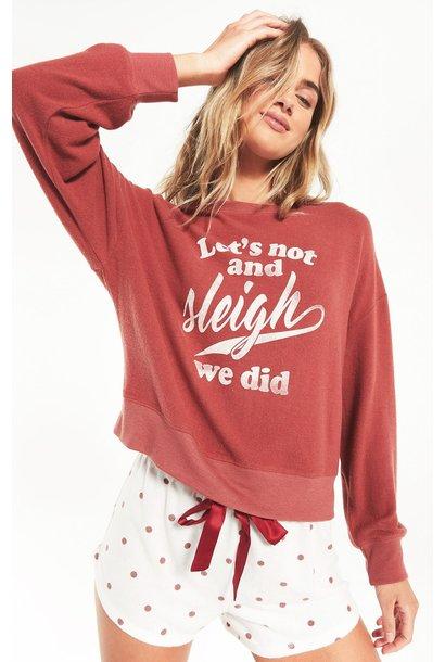 Sleigh Sweatshirt RED