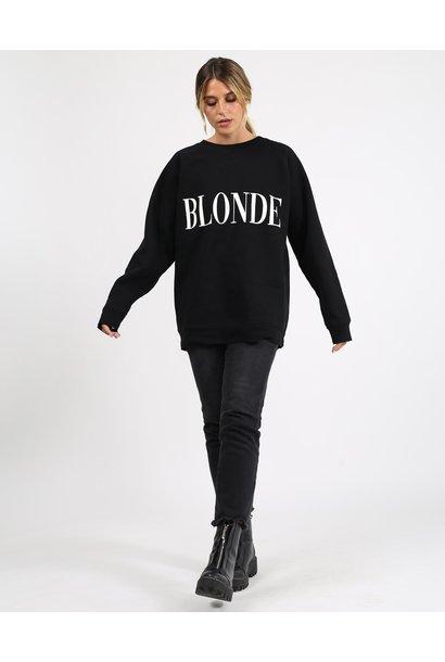 Blonde Big Sis Crew BLK/CRM
