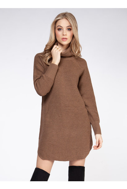 Turtleneck Sweater Dress BRN