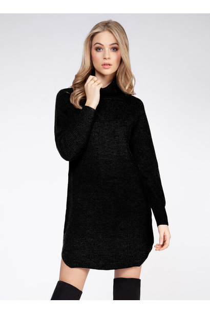 Turtleneck Sweater Dress BLK