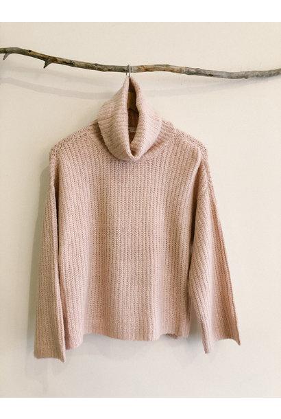 TurtleNeck Crop Sweater ROSE