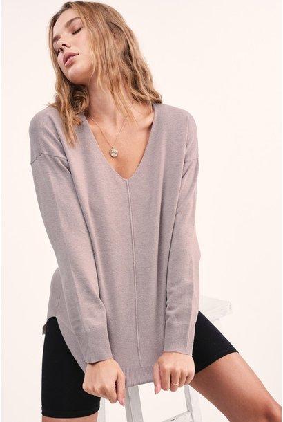 Angel Vneck Soft Sweater MOCH