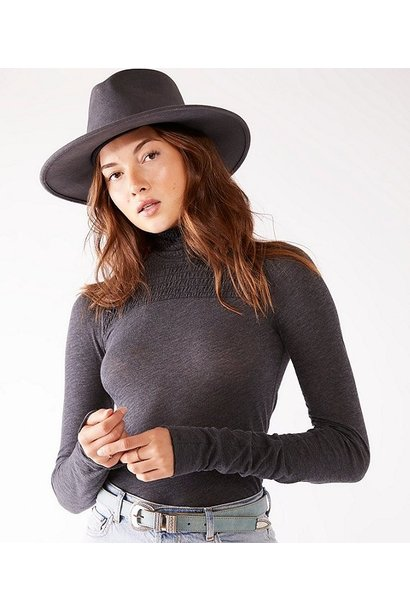 Caroline 3/4 Sleeve Top BLK