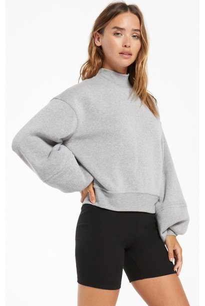 Skylar Mock Neck Pull Over HGRY