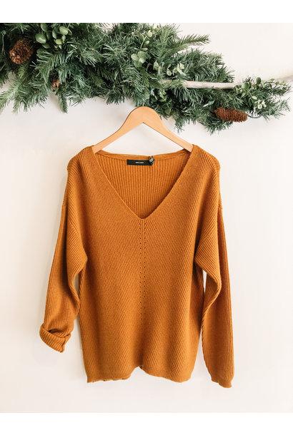 Holly V-Neck Rib Sweater MUST